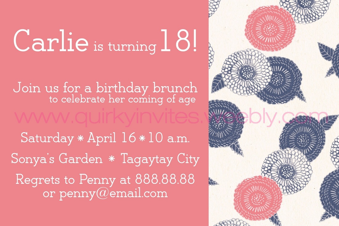 Debut Invitations - Quirky Invites