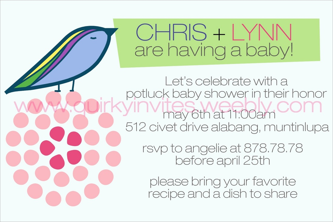 Choose Your Desired Baby Shower Party Invitation And Fill Out The Order  Form. Our Invitations Are Printed On 4R Size Glossy Paper And Comes With  White ...